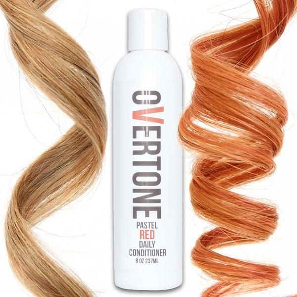 Say goodbye to faded rose gold hair dye with oVertone Pastel Red color conditioner. It's the perfect rose gold hair product between salon visits!
