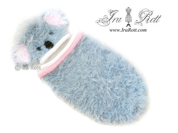 Knitting Pattern For Koala Bear Mittens : Koala Bear Fuzzy Hat and Cocoon Set for Newborn Babies - READY to Ship Koal...