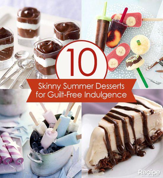 Skinny Summer Desserts for Guilt-Free Indulgence