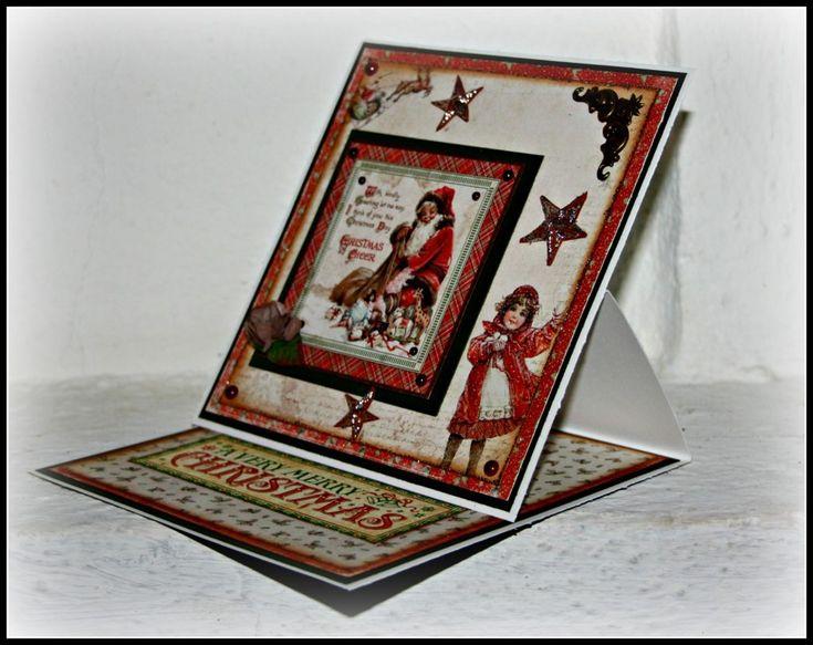 Julkort med Maja Design - http://kristinasscrapbookingblogg.se/27159-2/ - Hejsan svejsan!!!!! Jaha då var vi inne i novembers sista dag, i morgon kliver vi in i december och den officiella jul månaden. Idag hade jag tänkt att bjuda ett på ett litet projekt som jag har haft i mitt huvud ett tag MEN nu va det så illa att jag inte hittade allt jag behövde till det så jag...