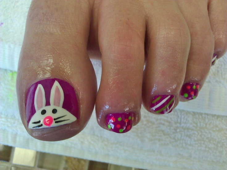 Easter PedicureEaster Pedicures, Pampered Time, Fingernail Fun, Pedicures Art, Nails Ideas, Pedicures Ideas