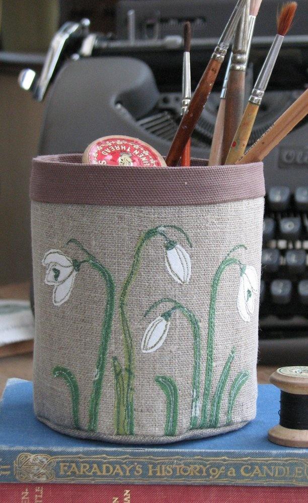 Snowdrops - Fabric pot £22.50