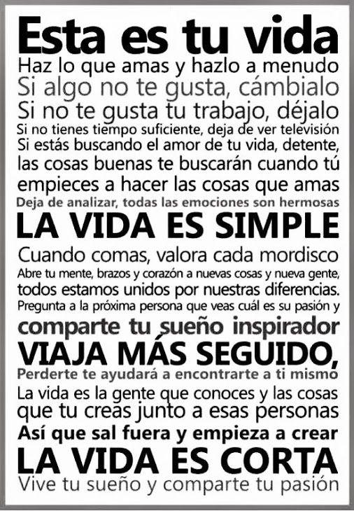 Esta es tu #Vida... #Citas #Frases @Candidman                                                                                                                                                                                 Más