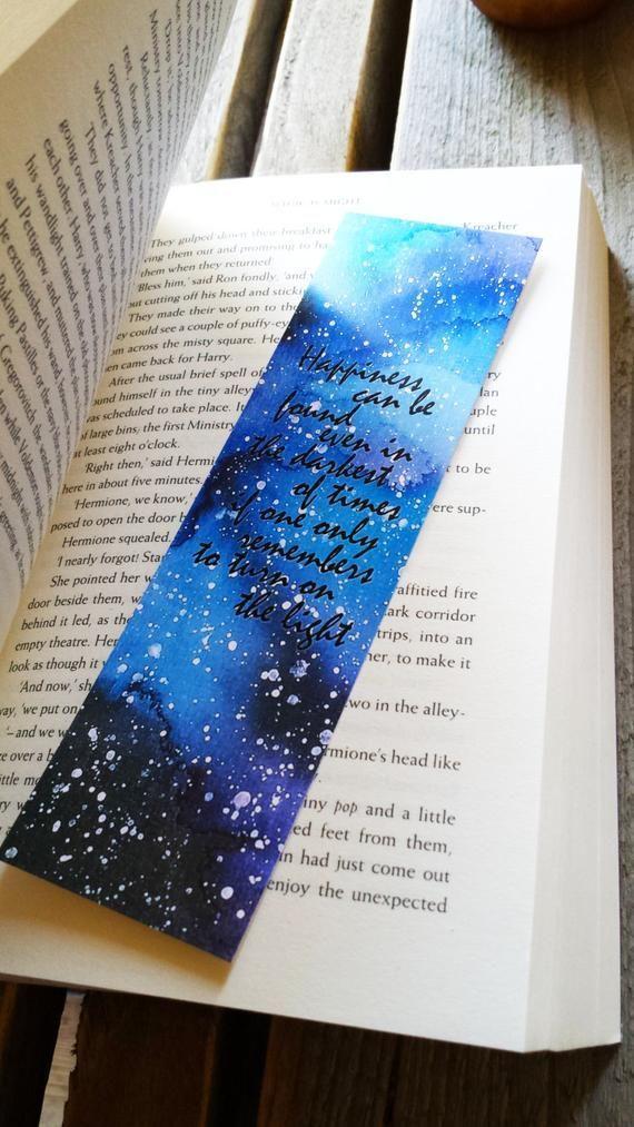 Harry Potter Aquarell Lesezeichen Harry Potter Lesezeichen