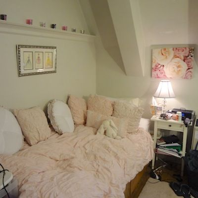 Girly cozy looking bedroom