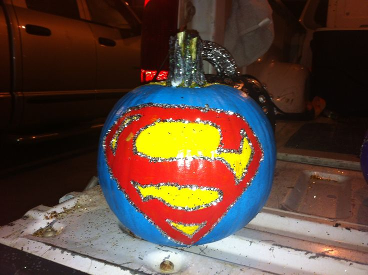 Superman Pumpkin Fall Pinterest Pumpkins And Superman