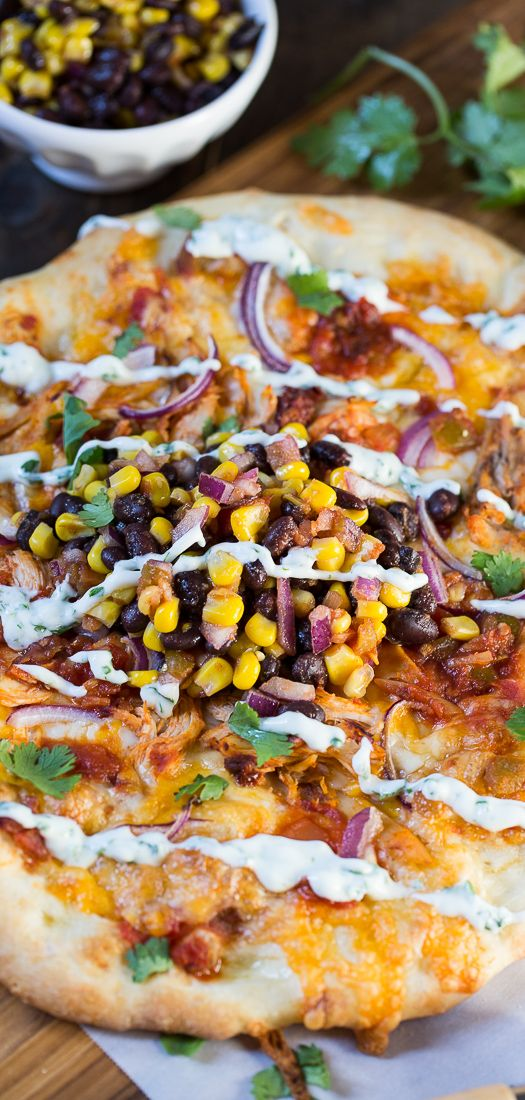 amazing California Pizza Kitchen Fish Taco Recipe #7: Chipotle Chicken Pizza (California Pizza Kitchen copycat)
