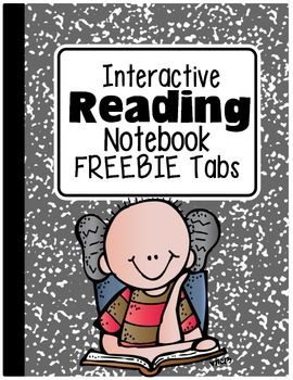 FREEBIE: TABS FOR INTERACTIVE READING NOTEBOOKS - ....Follow for Free 'too-neat-not-to-keep' literacy tools & other fun teaching stuff :)