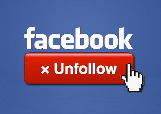 Unfollow di Facebook