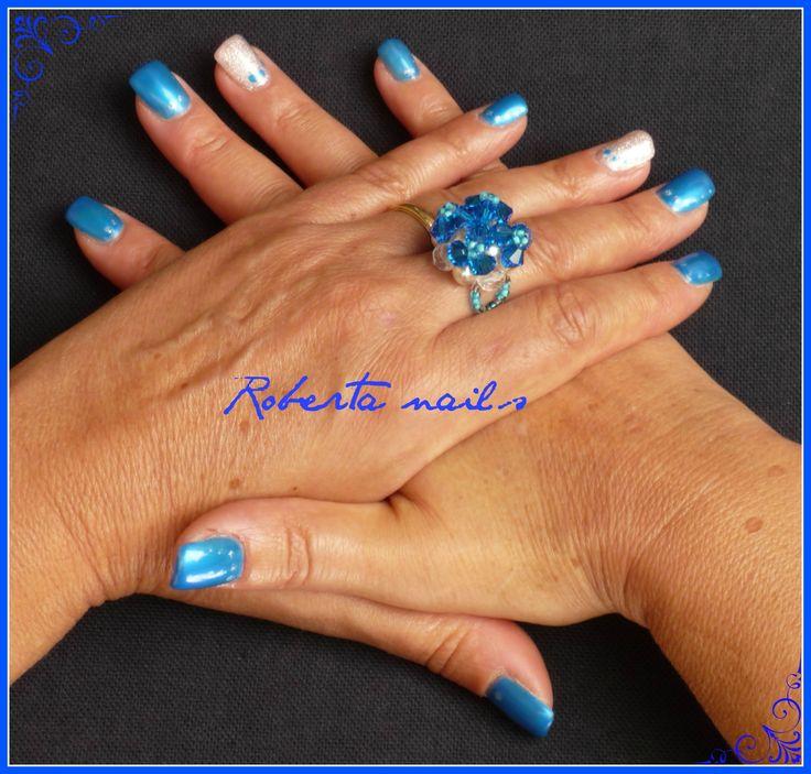 Square con Metallic blue di Melano
