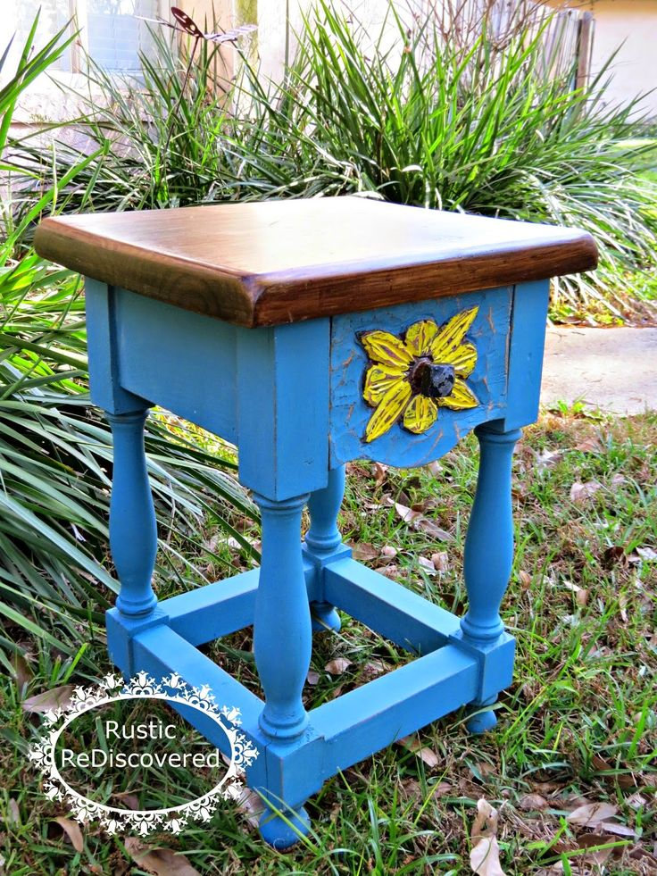 Rustic ReDiscovered- Bright And Sunny Table Update