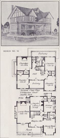 tudor house plan seattle vintage residential architecture 1908 western home builder design no