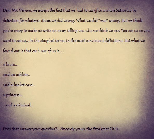 best amh love images anthony michael hall  the breakfast club essay written by brian johnson played by anthony michael hall