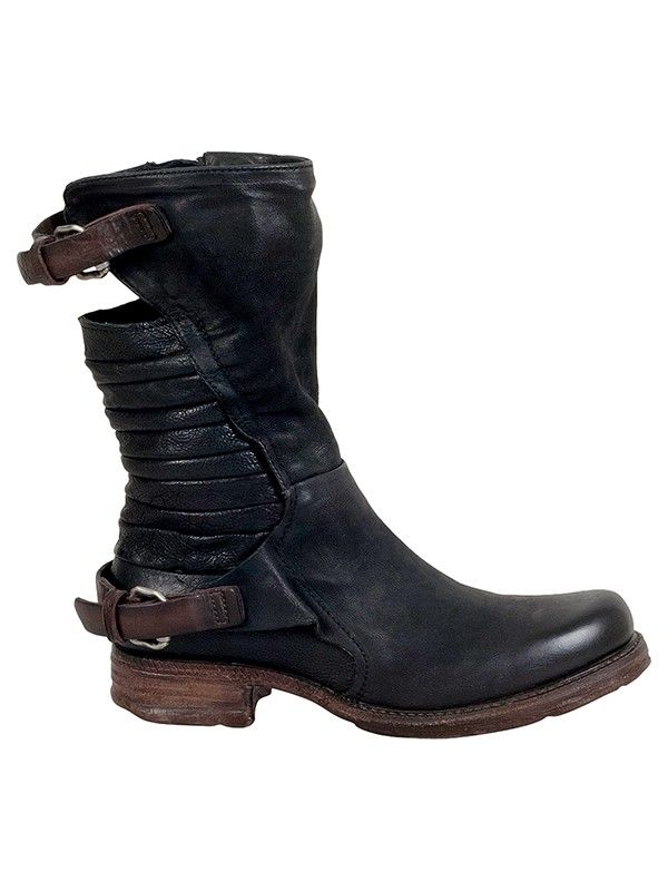 """Leather Upper Rubber Sole 1"""" Heel 9.75"""" Shaft 13"""" Shaft Circumference"""