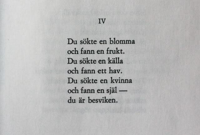 Dagen svalnar, Edith Södergran