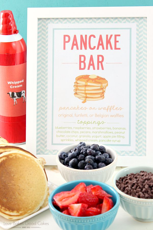 It's easy to host your own Pancake Bar! It's a great idea for weekend brunches, special occasions, or anytime you want a fuss-free meal! AD