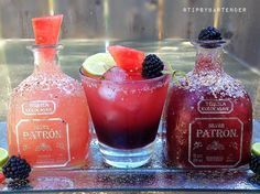 SANDIA MARGARITA 2 oz. (60ml) Tequila 1 oz. (30ml) Patron Citronge 1 oz. (30ml) Lime Juice 2 oz. (60ml). Fresh Pressed Watermelon Juice ½ oz. (15ml) Light Agave Nectar BLACKBERRY MARGARITA 2 oz....