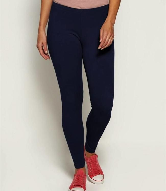 Marcmarcs Cotton Slide Katoenen Leggings Donkerblauw Katoen Leggings En Stretchstof