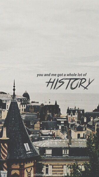 """""""History"""" - One Direction. I love that they wrote this specifically for their fans, and they even included Directioners in it! <3 Best song on Made in the AM in my opinion. <3"""