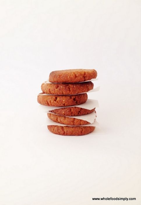 Quick, easy and delicious four ingredient Ginger Cookies. Free from gluten, grains, dairy, refined sugar and egg. Enjoy.