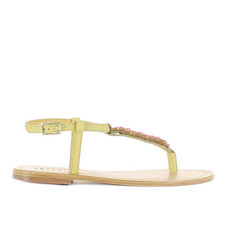 Artemide Pastel Yellow Sandal.