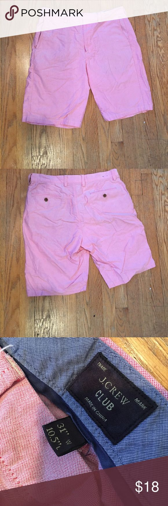 J Crew Club Shorts These are a pair of J Crew Club shorts. They are in perfect condition and are a 31 W and have an inseem of 10.5 inches. Great for summer! Comment with Questions! J. Crew Shorts Flat Front