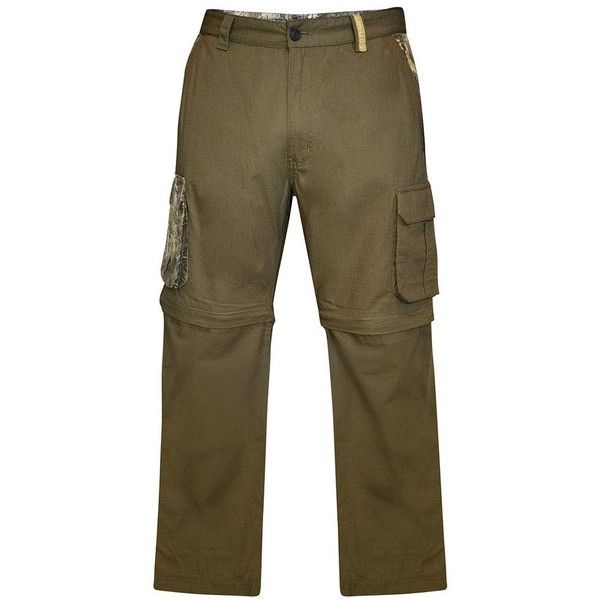 Men's Realtree Earthletics Modern-Fit Ripstop Convertible Cargo Pants ($70) ❤ liked on Polyvore featuring men's fashion, men's clothing, men's pants, men's casual pants, green, mens camo cargo pants, mens green cargo pants, mens camo pants, mens patterned pants and mens camouflage cargo pants