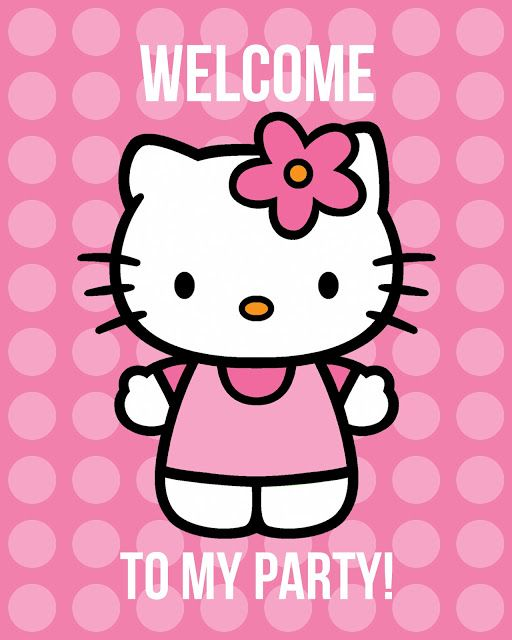 Hello Kitty party ideas + printables. PDFS saved. X
