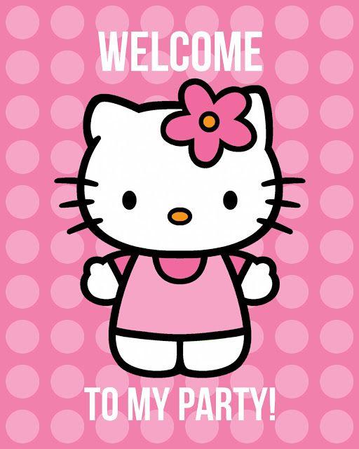 Hello Kitty party ideas + printables. PDFS saved. X