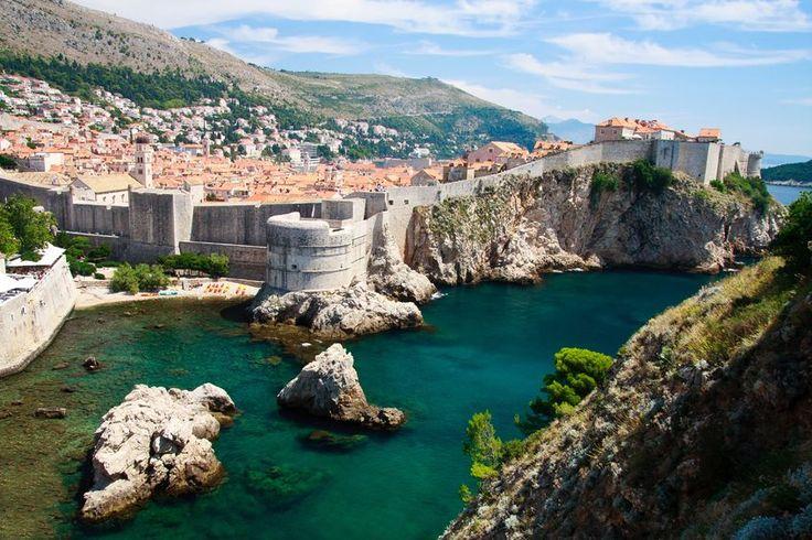 Dubrovnik, várfal a távolból