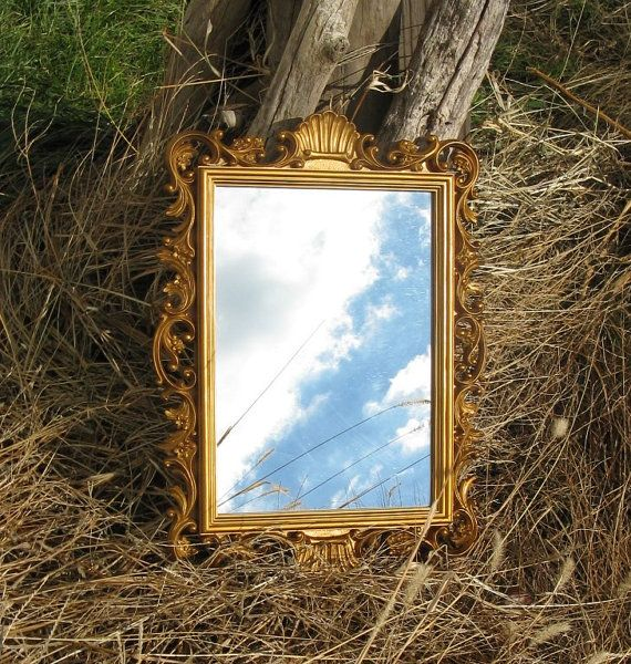 vintage homeco ornate gold wall mirror 14 by by rivertownvintage