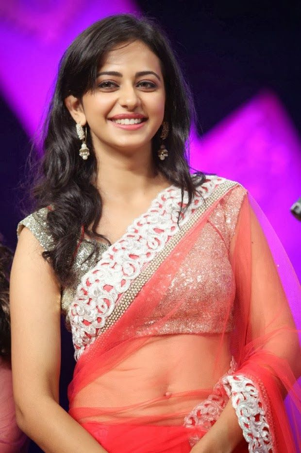 rakul preet singh hot saree stills