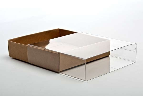 """4 3/16"""" x 1 1/16"""" x 4 1/4"""" Crystal Clear Box Slip Cover (10 Pack) [SC99] - Two-Piece Folding Boxes - Paper Boxes - Boxes"""