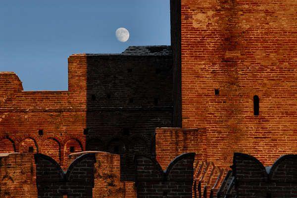 Cittadella (PD) Tramonto invernale sulle Mura Medioevali di Cittadella