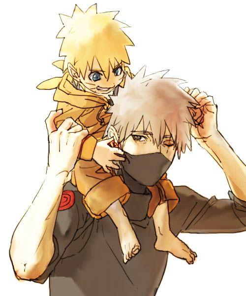 Baby Naruto and kakashi