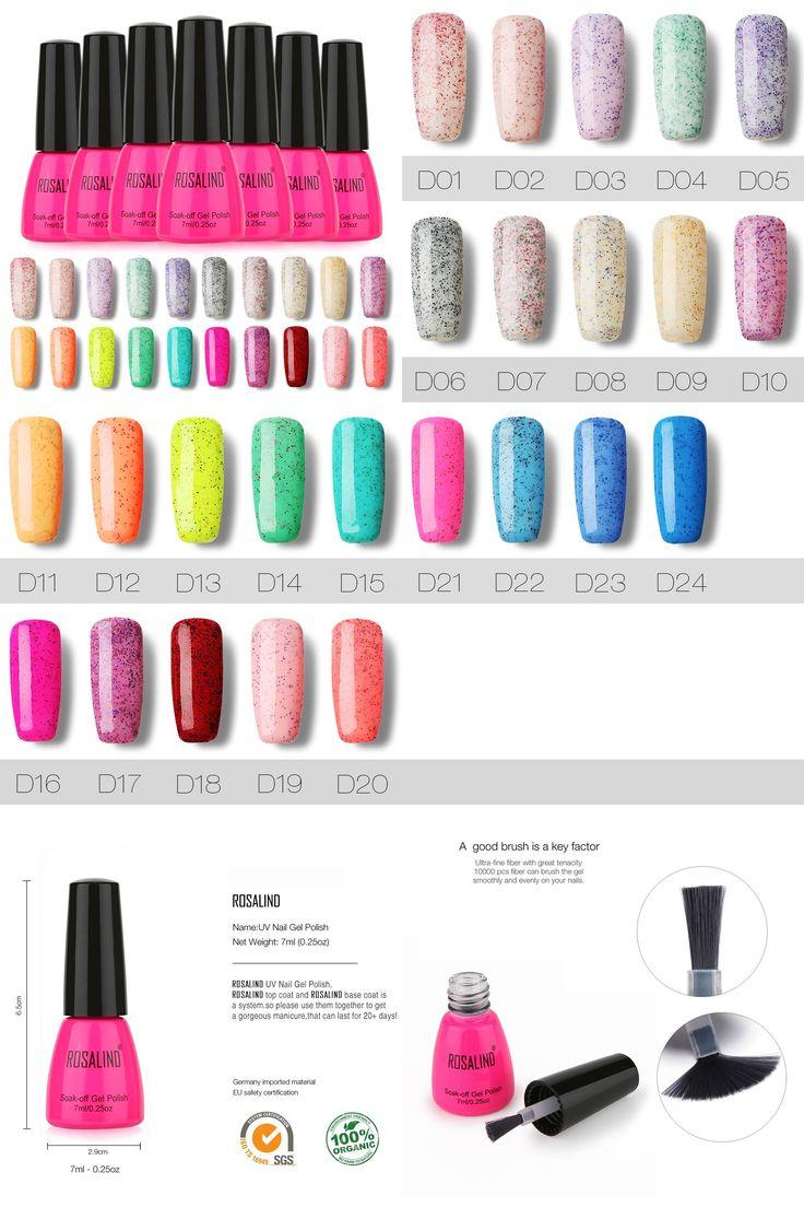 [Visit to Buy] ROSALIND Rosa Bottle Bling Candy Color Gel Polish UV Nail Gel Polish Dark Purple Color Gel Nail Polish 3D Glitter Nail Enamel #Advertisement