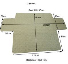 2 Seater Quilted Sofa Cover Protector Pet Mat Pad Sofa Throw Slipcover Surefit   eBay