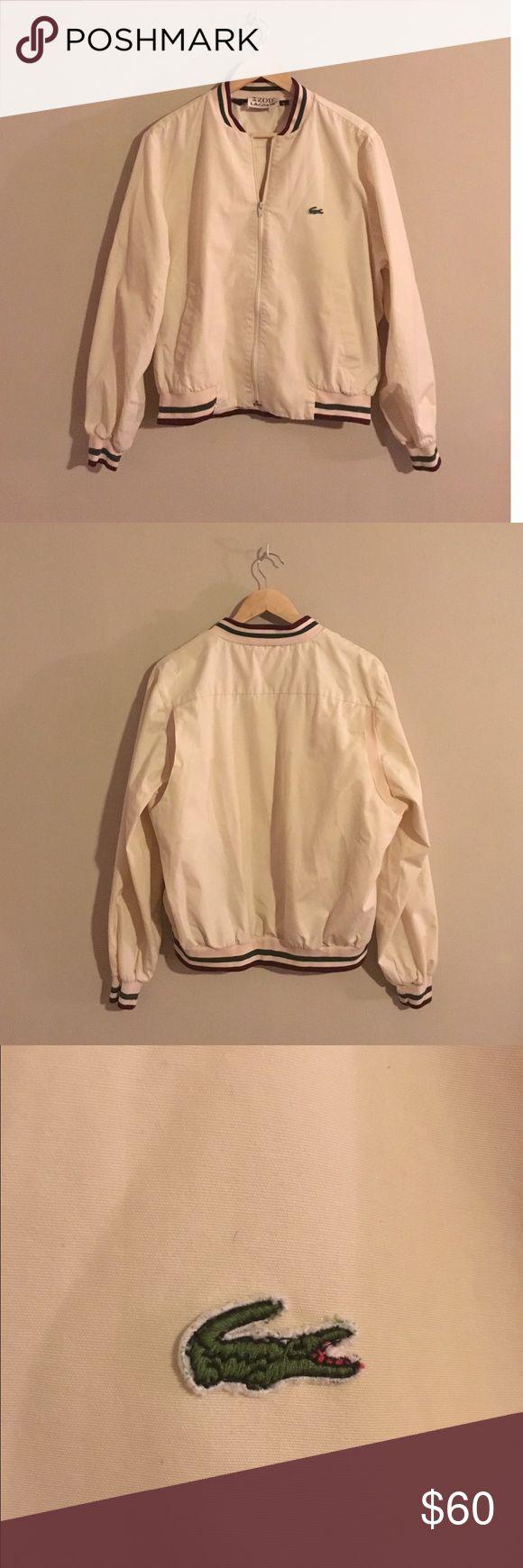 Vintage Lacoste Bomber Jacket Awesome vintage 80s 90s Izod Lacoste khaki bomber jacket. Fits like Women's Large Vintage Jackets & Coats