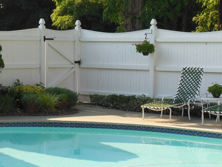 White Wooden Fence Very Attractive Pool Fencing Ideas