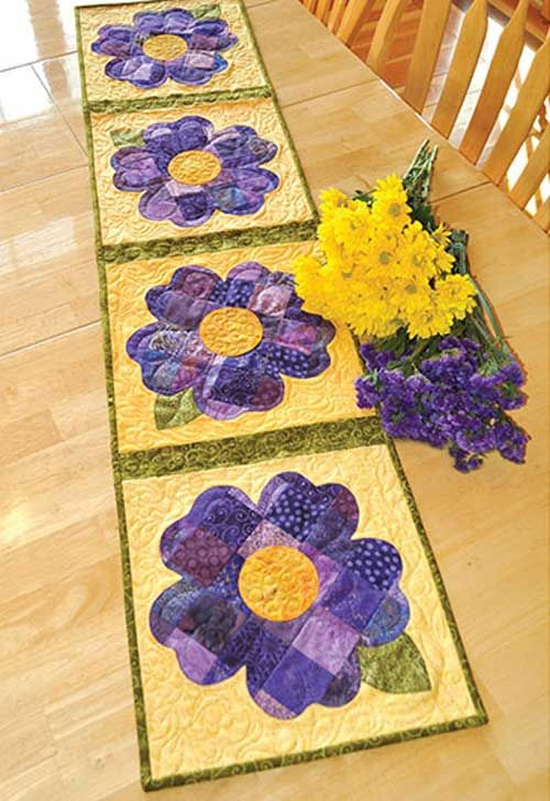 Celebrate spring year-round! This blooming and stunning table runner is perfect for placing on your kitchen table year-round to celebrate the beauty of spr