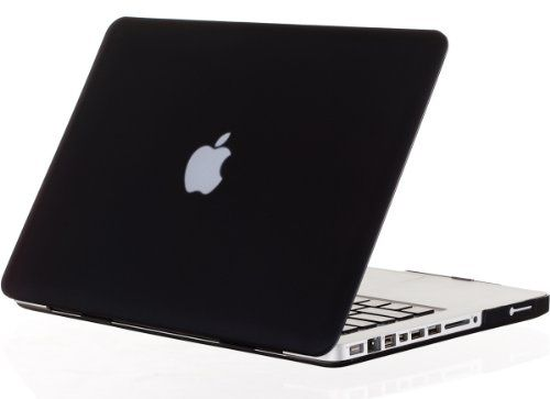 """Amazon.com: Kuzy - BLACK 13-inch Ultra Slim Rubberized Hard Case Light Weight Matte Cover for MacBook Pro 13.3"""" (A1278 with or without Thunderbolt) Aluminum Unibody - Black: Computers & Accessories"""