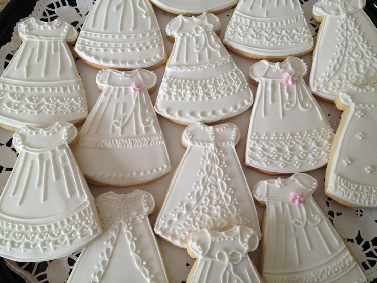 Perfect Christening Dress Cookies!