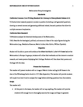 luther 95 theses lesson plan