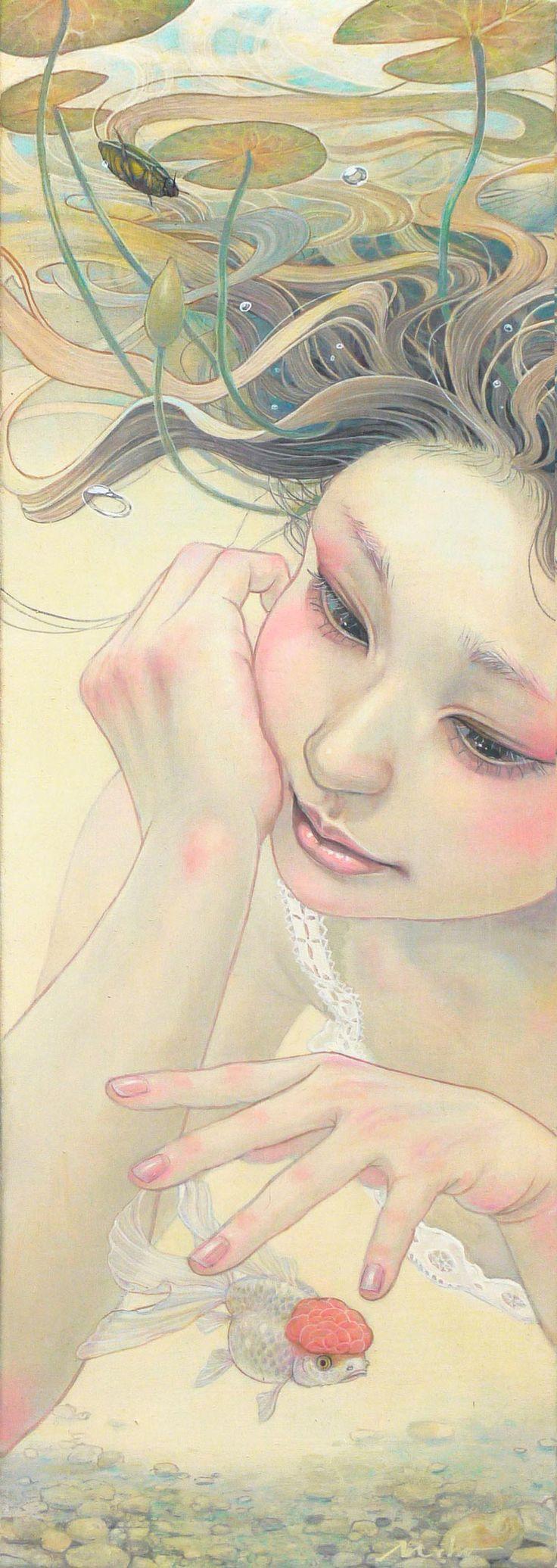 Une sélection des créations de l'artiste japonaiseMiho Hirano, qui nous dévoile des peintures d'une incroyable douceur, entre poésie, sensualité et déli