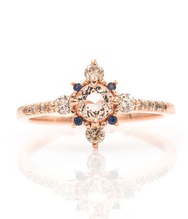 Winter Forest Morganite Ring
