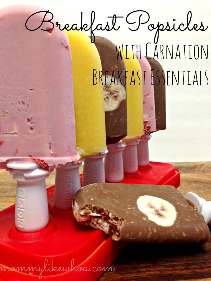 breakfast popsicles with carnation breakfast essentials - mommylikewhoa.com