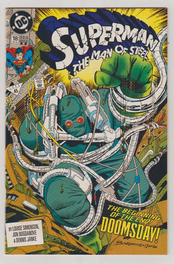 Superman: The Man of Steel; Vol 1, 18 Comic Book (2nd Printing).  NM. December 1992.  DC Comics #superman #doomsday #comicsforsale