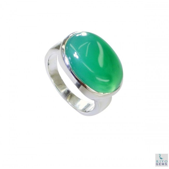 Riyo Crooked Green Onyx 925 Solid Sterling Silver Green Ring Srgon7-30003