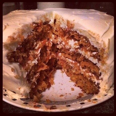 Carrot Cake Supreme With Buttermilk Glaze And Cream Cheese Frost Recipe - Food.com
