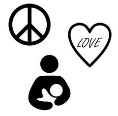 Peace, Love, and Breastfeeding *PRE ORDER* Embroidered, OS Pocket Diaper  http://www.ellabellabum.com/collections/pre-orders